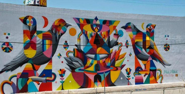 Remed x Okuda New Mural - Wynwood, Miami   The VandalList