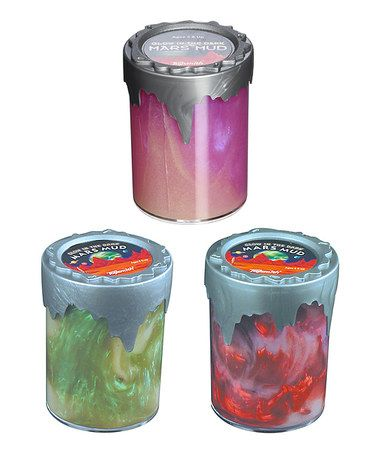 $7.99 Love this Glow Mars Mud Putty Toy - Set of Three on #zulily! #zulilyfinds
