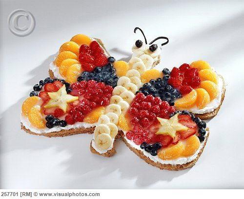Butterfly fruit cake