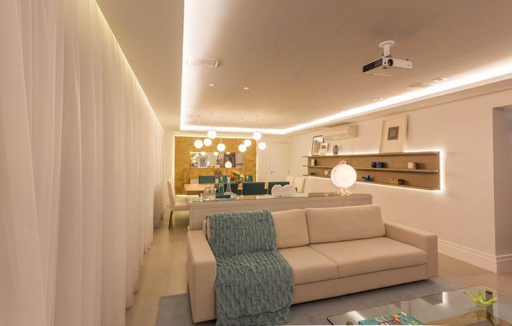 Apartamento Chef de Cozinha Sala de Estar Projeto - Enzo Sobocinski Arquitetura