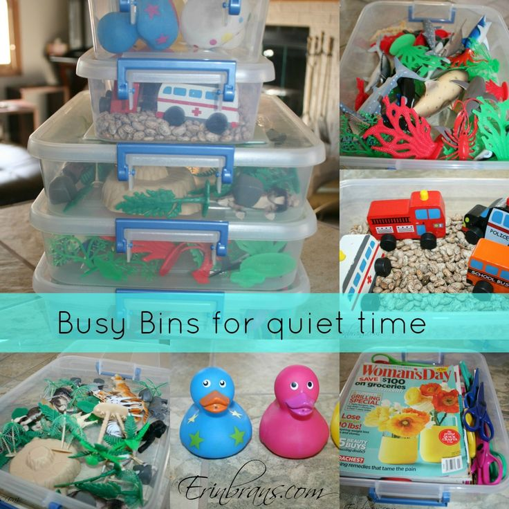 busy bins for toddlersErinbrans Com
