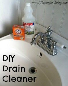 Check out this super easy recipe for DIY Drain Cleaner! #DIYcleaners #diy