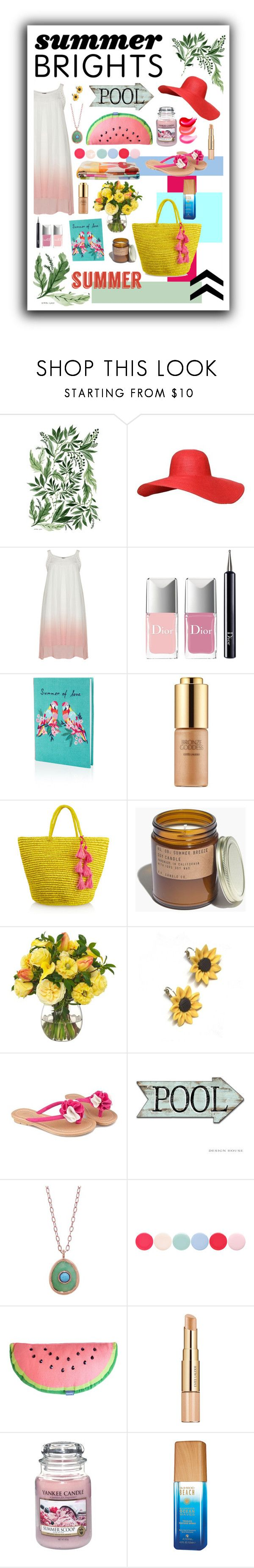 """Untitled #117"" by cilnyeol ❤ liked on Polyvore featuring Christian Dior, Accessorize, Estée Lauder, Sensi Studio, Madewell, Diane James, Summer and Silver, Pascale Monvoisin, Nails Inc. and Yankee Candle"