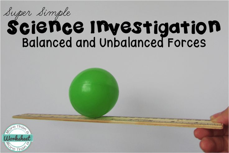 Teaching Balanced And Unbalanced Forces Science Teaching
