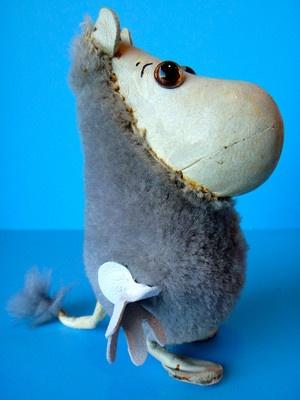 Earliest Vintage MOOMIN troll by ATELIER FAUNI, rare 1960s Muumi Moominvalley…