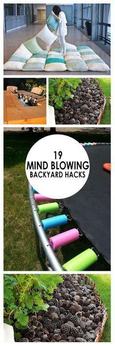 19 mind blowing backyard hacks backyard yards and yard for Mind boggling ideas