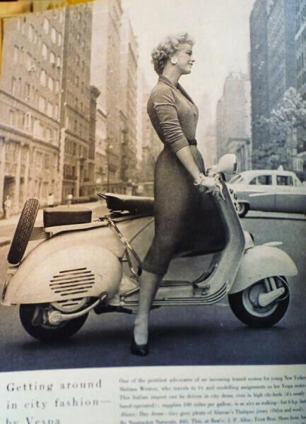Vespa girls Professional woman riding to work...it's possible