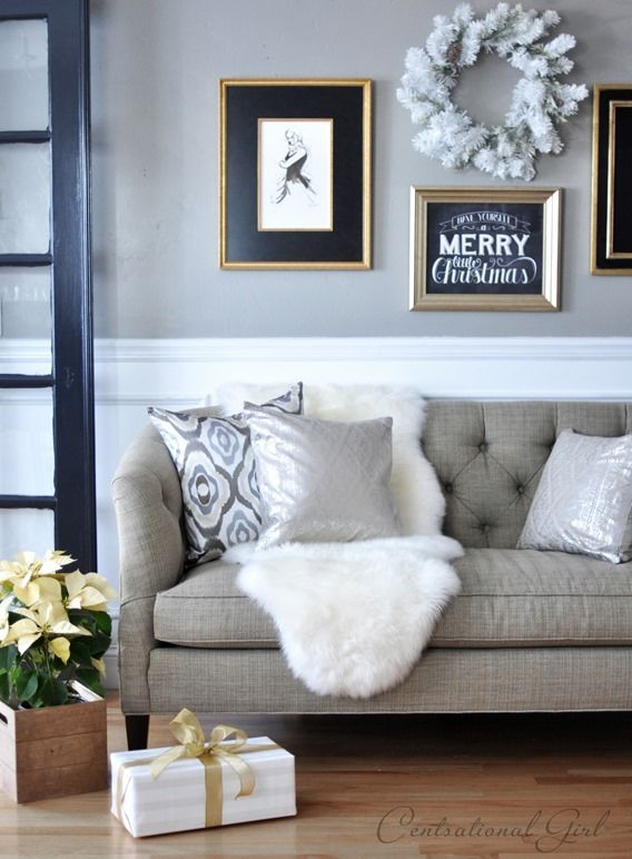 Sheepskin throw rugs are also popular choices to soften up a hard surface or layering in texture as a throw on the couch. A-Z Home Decor Trend 2014: Sheepskin