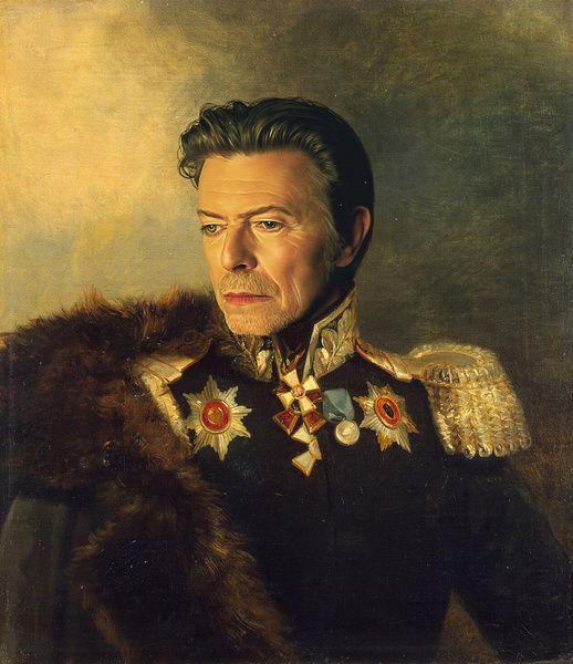 David Bowie - replaceface Art Print