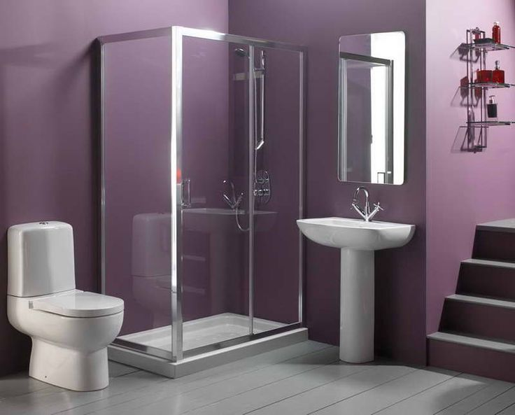 Trendy Bathroom Wall Colors With Purple