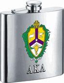 ALPHA KAPPA LAMBDA Fraternity 6 oz Stainless Steel Liquor Flask