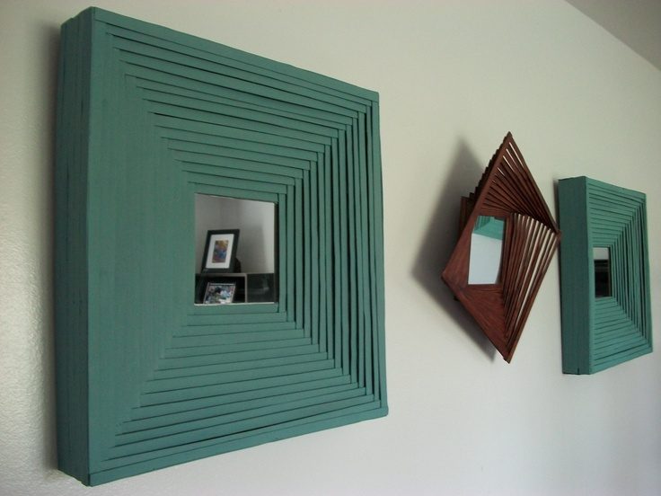 These teal framed mirrors were a commissioned job for a friend. Very easy project involving layering bamboo back and forth. Once I figure out how to work Pinterest I will be able to give a tutorial. These were simple and I would put the estimated time of completion around 2 hours not including overnight dry time for frame, individual sides and attaching sides to the frame. I figured wiring the backs would make it easier to hang straight.