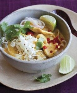 Red Curry Soup with Chicken and Rice Noodles - recipe by Laura Russell - love all her recipes and this one looks super yummy