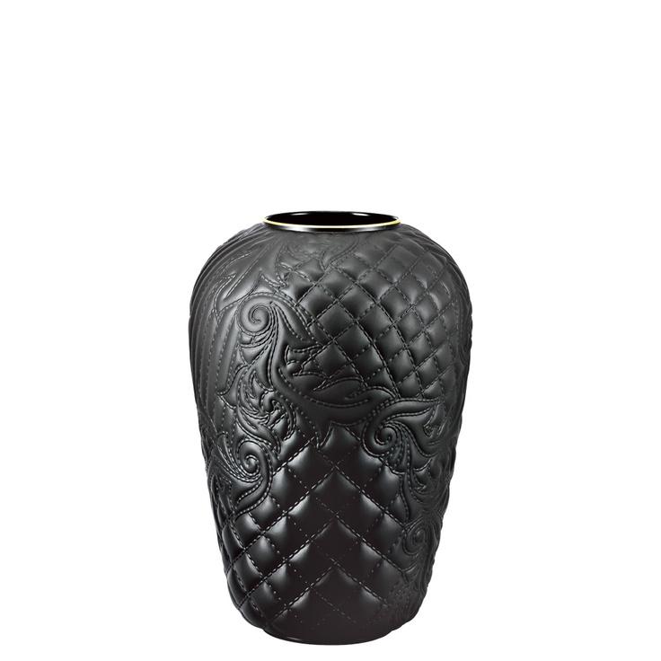 Rosenthal Versace Vanitas Black-goldrim Vase 24 cm