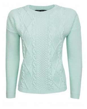 Mint Green Cable Jumper   #2014 #fashion http://www.selectfashion.co.uk/clothing/s039-1502-45_mint-green.html