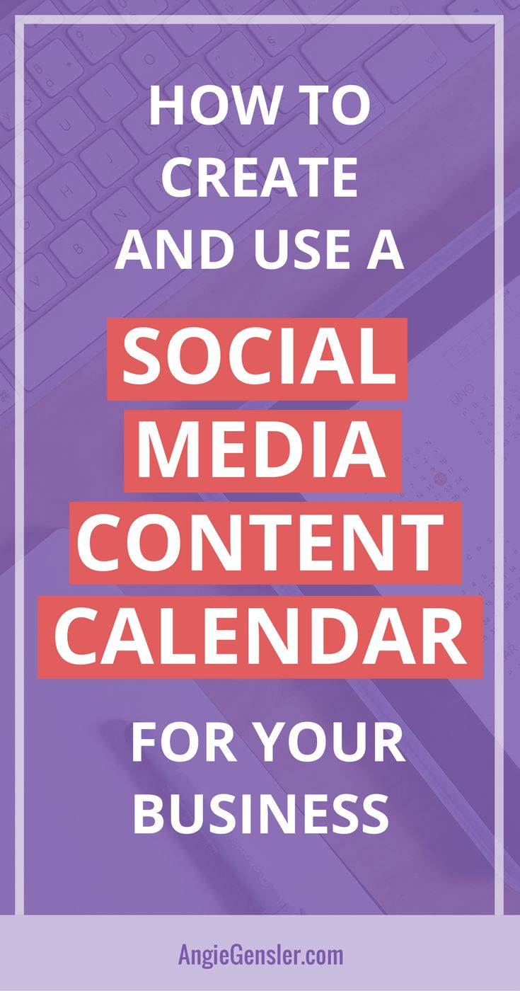 Learn how to create and use a social media content calendar and finally master #socialmedia for your business // Angie Gensler