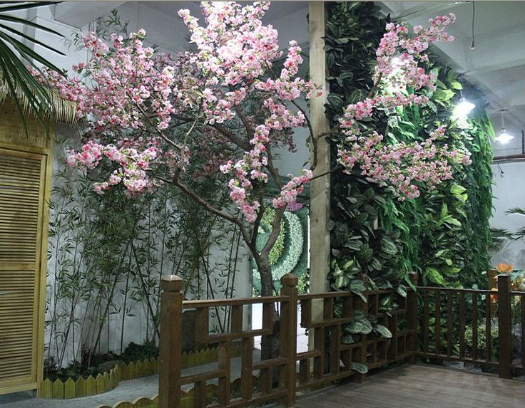 Indoor Artificial Cherry Blossom Flowering Fake Trees 4