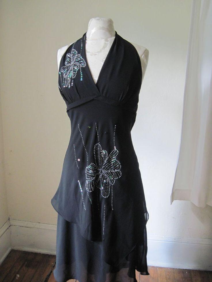 Dress, Robe Femme, Noir (Black 100), X-SmallBenetton