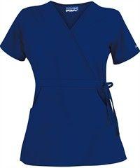 Butter-Soft Scrubs by UA™ Women's Solid Mock Wrap Top with Side Tie Style #  UAS28C  #uniformadvantage #scrubs #nurses #galaxyblue