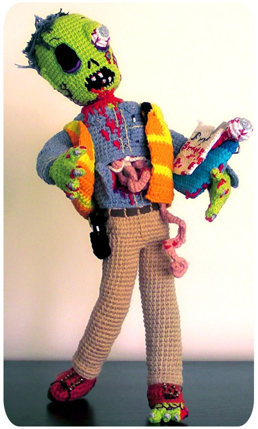 Crochet Zombie Patterns : Zombie Crochet . This one is a Building Inspector! # ...