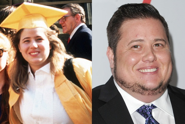 Chastity Bono, School of the Performing Arts Graduation at LaGuardia High School in New York City (1987) and Chaz Bono Today