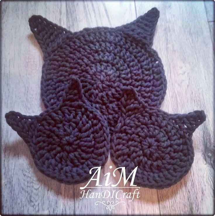 """Polubienia: 14, komentarze: 1 – @kc.senga na Instagramie: """"Podkładki #kotki 😺😸😽 pod michę dużą i ciut mniejszą 😻 : : #agnieszka #AiMHanDICraft #kielce…"""""""