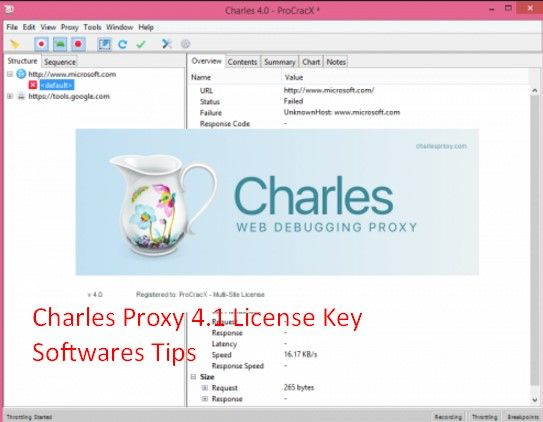 Charles Proxy 4.1 License Key incl Crack Patch Free Download is a web proxy that works basically in two ways it can be used proxy for different protocols