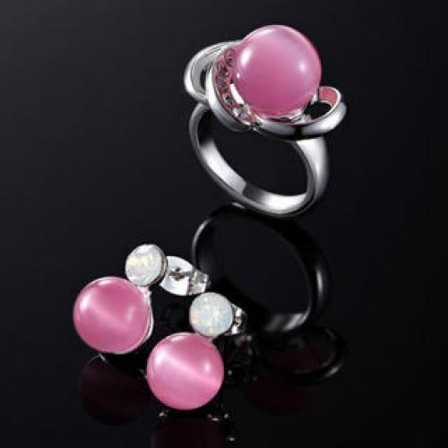 Set: Beaded Ring + Earrings