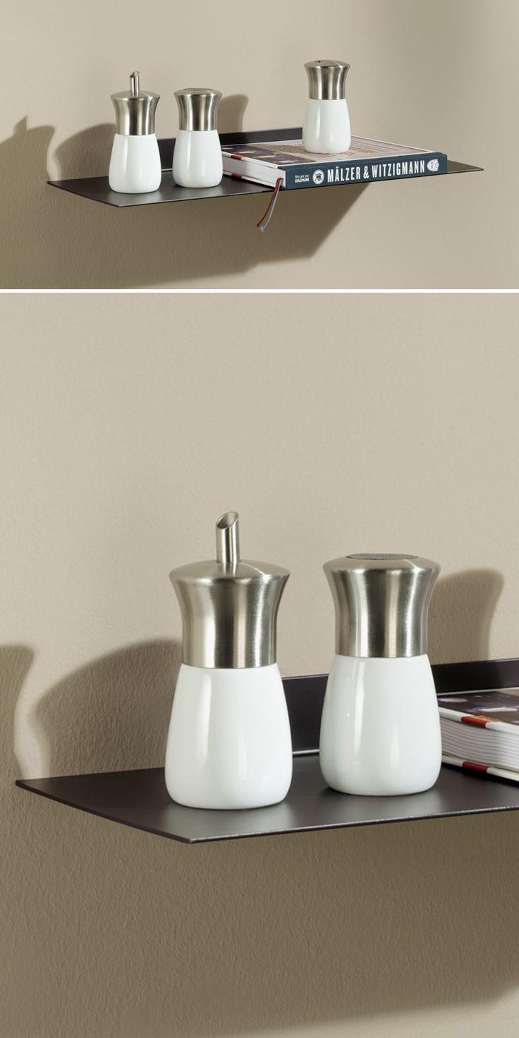 metallregal wei wand. Black Bedroom Furniture Sets. Home Design Ideas