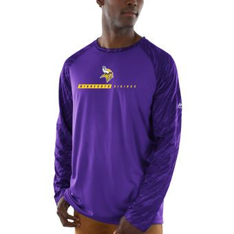 Men s Minnesota Vikings Majestic Purple League Rival Synthetic Long Sleeve T -Shirt  6bfc5ad69