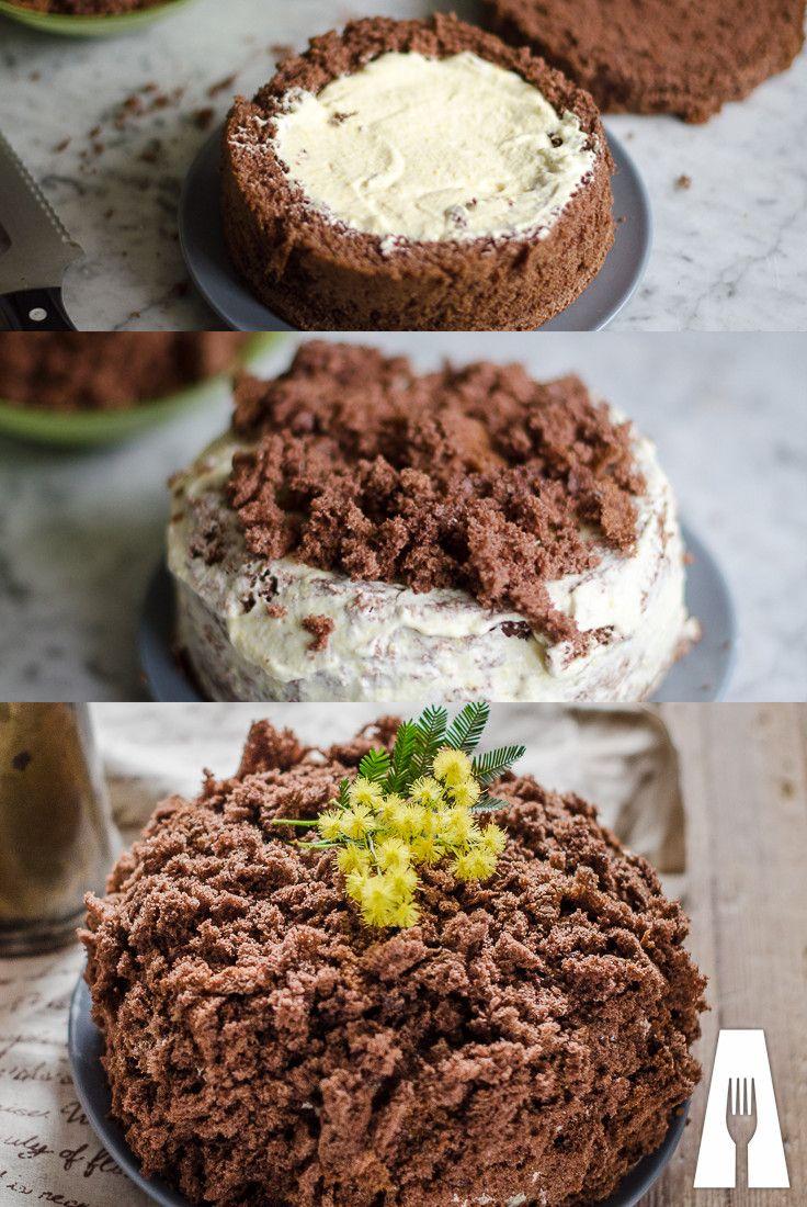 MIMOSA AL CIOCCOLATO Una #torta #mimosa speciale perfetta per gli amanti di arancia e cioccolato #agrodolce #ricetta #recipe