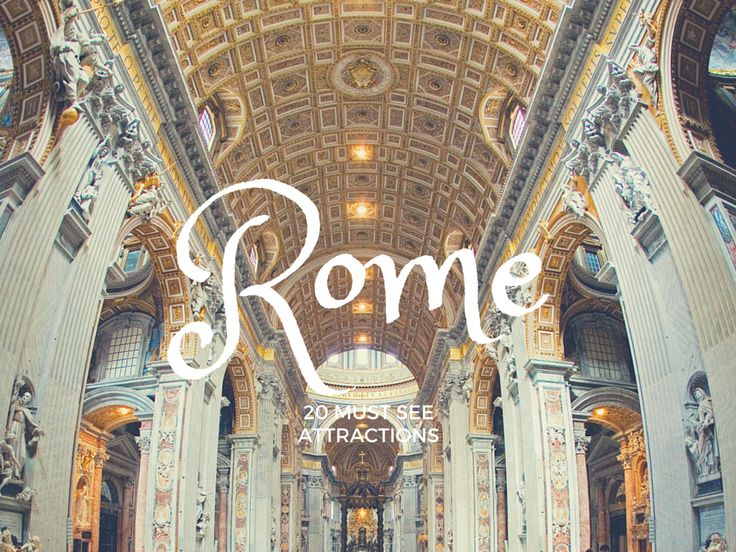 A list of the 20 must see Rome attractions you absolutely can not miss in Rome!