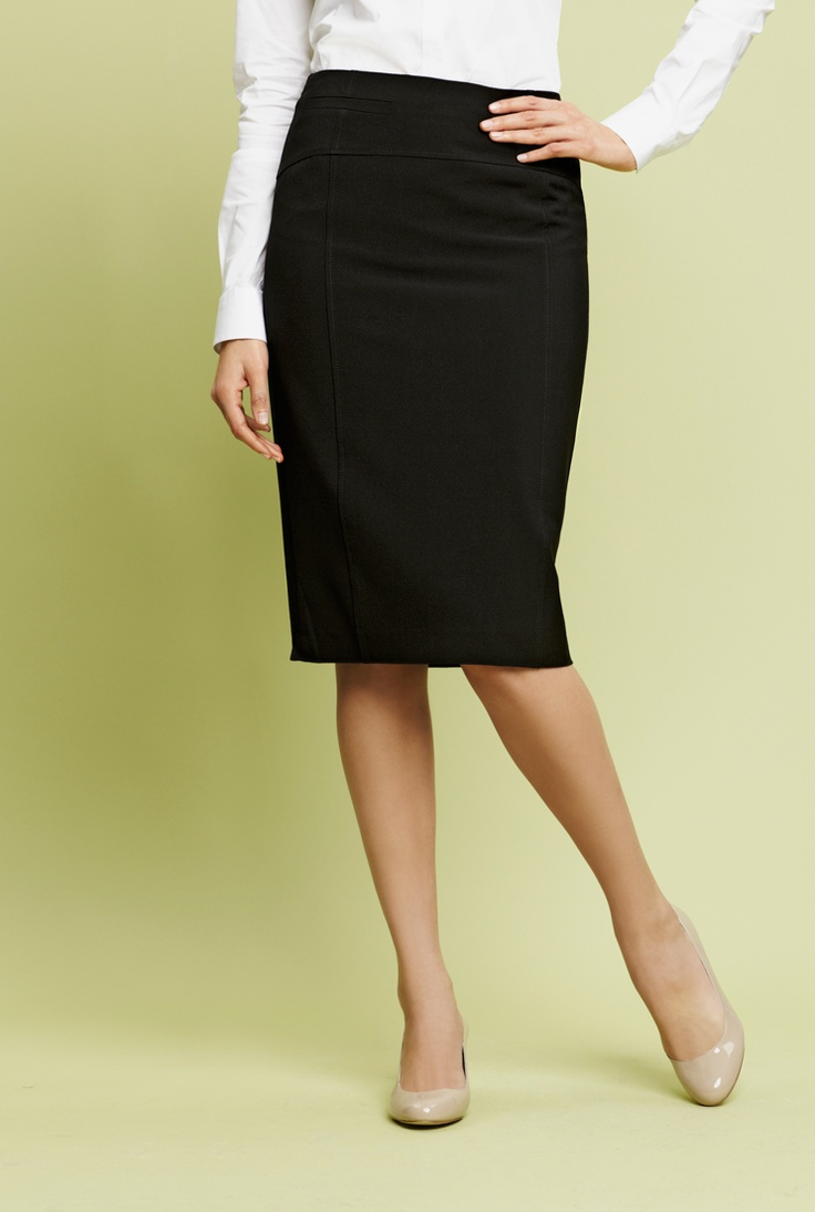 black pencil skirt below the knee my style