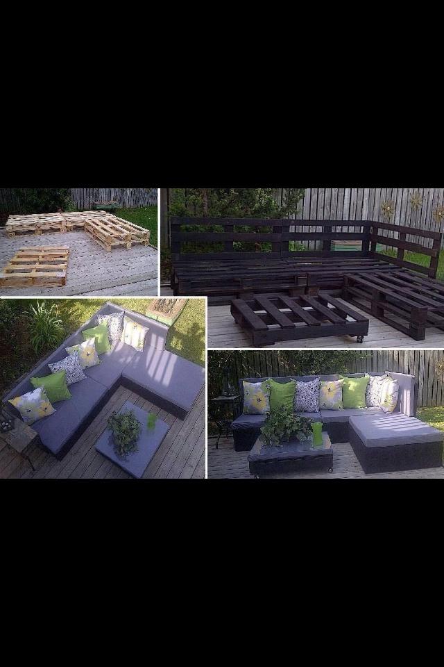 Muebles de patio con pallets