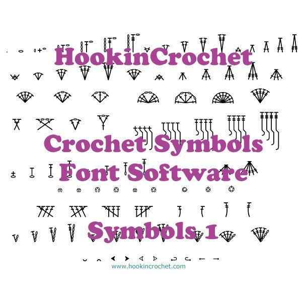 HookinCrochet Symbols 1 Font Software by HookinCrochet on Etsy