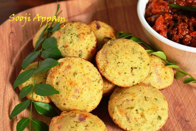 Instant Sooji Paniyaram/ How to make rava appam  Aaj tiffin mein kya hai #appam #paniyaram #instant  #sooji_paniyaram #breakfast #snacks #South_Indian #light #healthy #oilfree Recipe at : www.annapurnaz.in