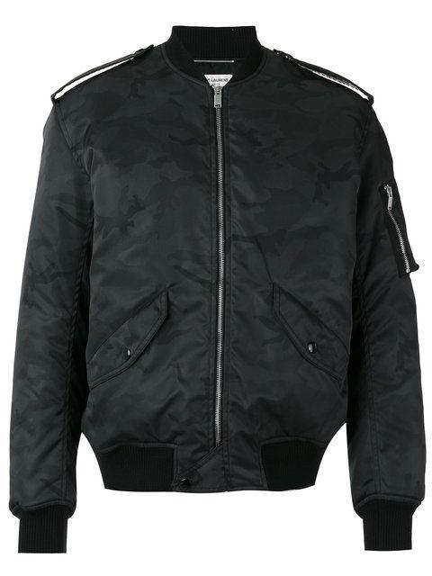SAINT LAURENT Military Bomber Jacket. #saintlaurent #cloth #jacket