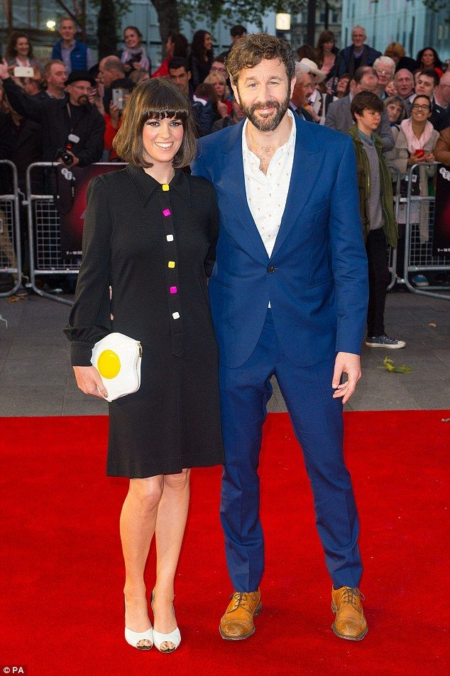 Support: Dawn O'Porter joined husband Chris O'Dowd on the red carpet at the BFI London Fil...