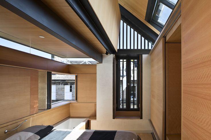 Master bedroom with open corner