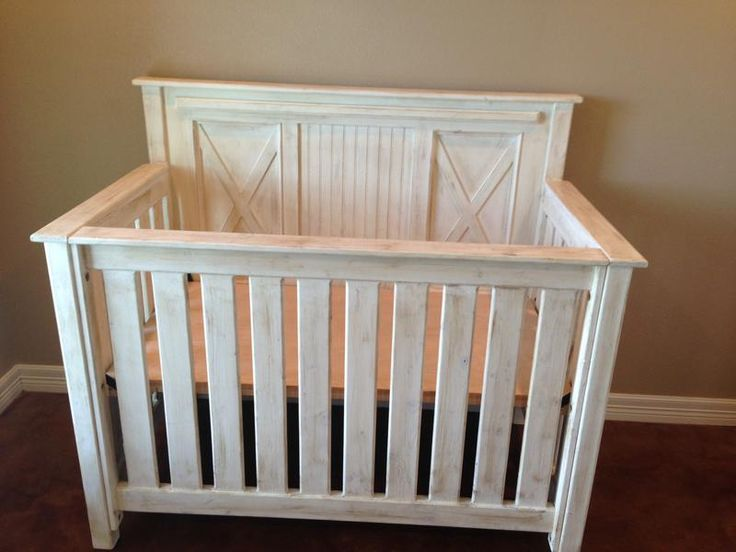 """The Rustic Acre custom built rustic baby bed. """"X"""" and bead ..."""