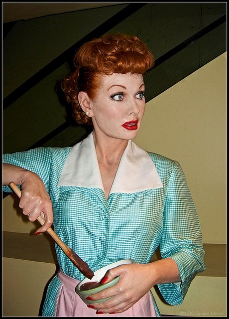 Here's Lucille Ball wax figure at Madame Tussauds Wax Museum in New York City. What do you think ? ♥