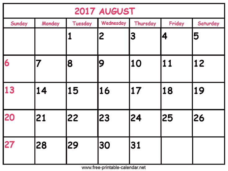 calendar 2017 to print