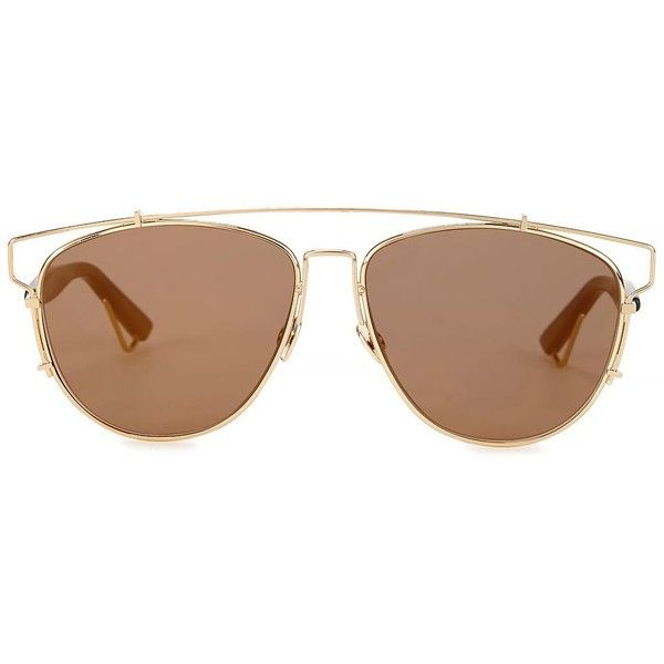 Womens Aviator Christian Dior Dior Technologic Mirrored Aviator-style... ($525) ❤ liked on Polyvore featuring accessories, eyewear, sunglasses, mirrored aviators, mirror sunglasses, mirror lens aviators, mirrored lens sunglasses and uv protection sunglasses