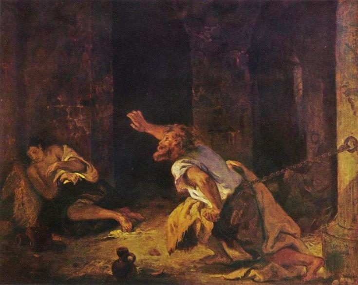 The Prisoner of Chillon, 1834 - Eugene Delacroix