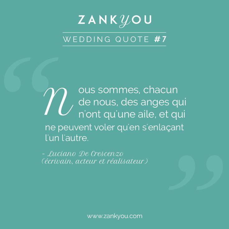 Wedding Quote #7 Une citation romantique et délicatesse pour les amoureux <3