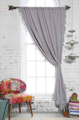 grey blackout pompom curtain  http://rstyle.me/n/nqrbwpdpe