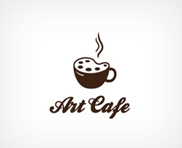 Double meaning logo design inspiration: : Art Cafè