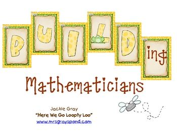 FROG themed math center labels for tubs and bulletin board...descriptions and info, too...Great!