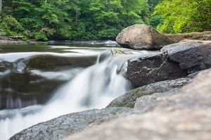 Zack Smith Photography North Carolina Brevard School of Music Center water rocks…