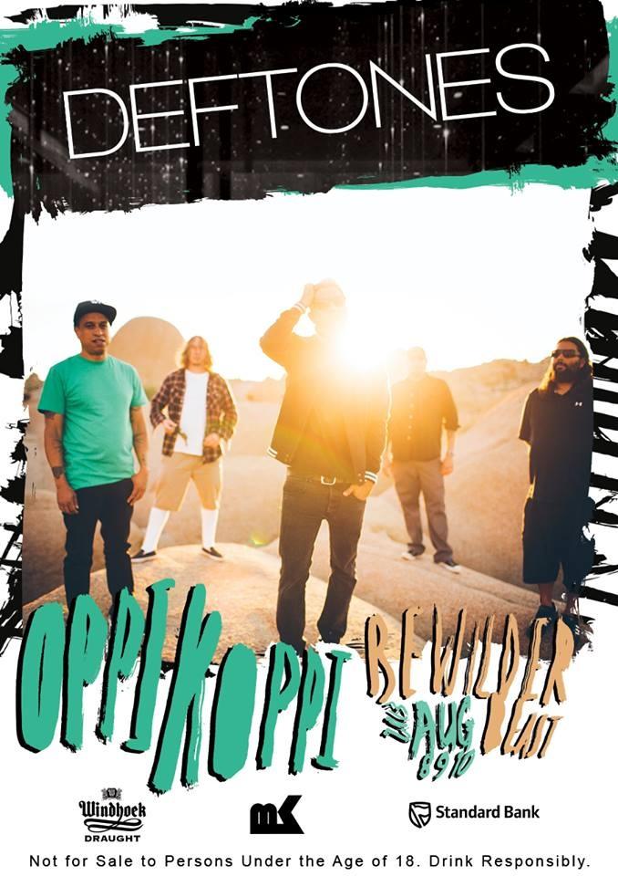 Deftones at Oppikoppi 2013 Deftones confirmed for Oppikoppi 2013